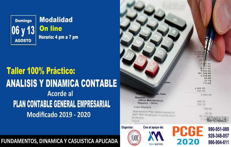 TALLER - DINAMICA CONTABLE PCGE 2019-2020
